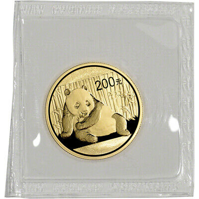 China Gold Panda 1/2 oz 200 Yuan - BU - Mint Sealed - Random Date