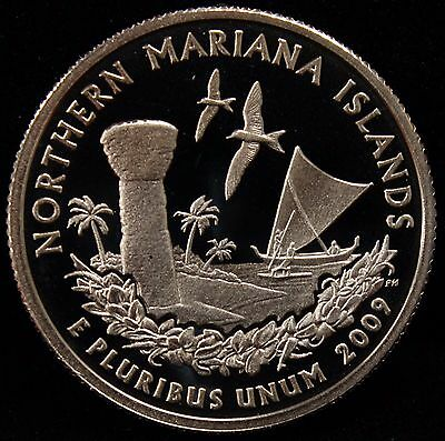 2009-S Territories Quarter Northern Mariana Islands Gem Proof DCAM CN-Clad Coin