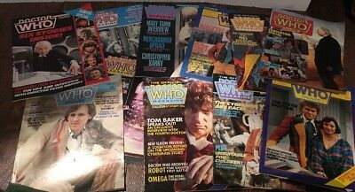 Doctor Dr. Who The Official Magazines Vintage Lot 11 Issues