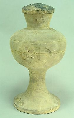 """! 206 BC– 20 AD HAN DYNASTY China Ritual Covered Vessel Earthenware 11"""""""