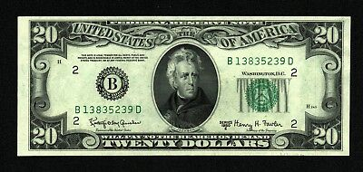 *Scarce* $20 1950E Federal Reserve Note (B) *New York* About Uncirculated