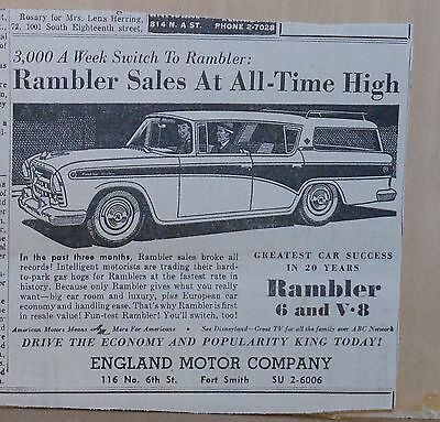 1957 newspaper ad for Rambler - Station Wagon, Sales at All-Time High