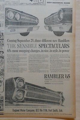 Large 1964 newspaper ad for Rambler - 1965 Ramblers, Sensible Spectaculars