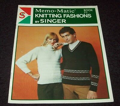 MEMO-MATIC KNITTING FASHIONS by SINGER, BOOK 71