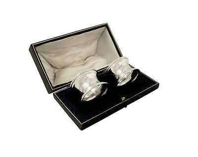 Pair Of Antique Sterling Silver Napkin Rings In Box - 1911