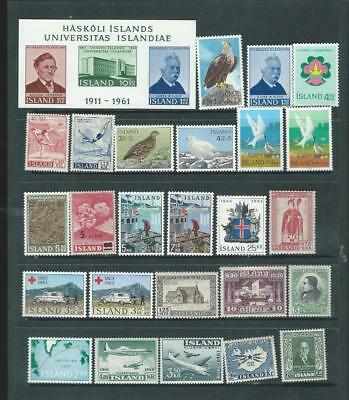 Iceland lot 2 most are UH mint selection, good values as per scan [2121]