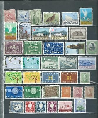 Iceland lot 3 most are UH mint selection, good values as per scan [2122]
