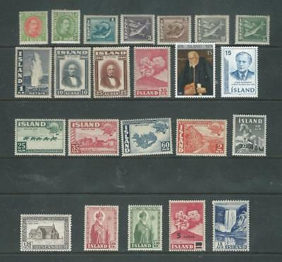 Iceland LH mint selection, good values as per scan [2112]