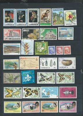 Jamaica selection of stamps good range mint and used [2123]