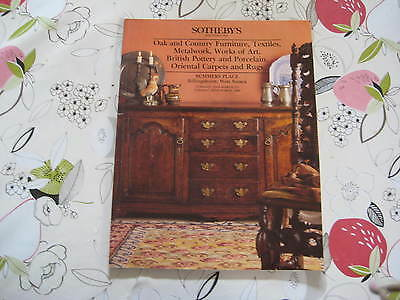 Sotheby's Catalogue Oak & Country Furniture Mar94