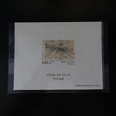 Épreuve Bloc Rubbed Out N°2835 Picture Viera Da Silva 1993 Stamp Not Indented