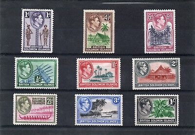 Solomon Isles GV1 1939 short set to 1s sg 60-68 H.Mint