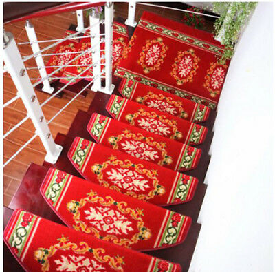 A34 5PCS Skid Resistance Household Step Rug Stair Tread Mat Carpet 100X24CM Z