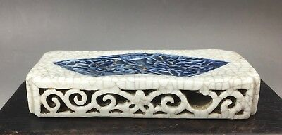 A very rare/fine Chinese 18C blue&white paper weight-Kangxi