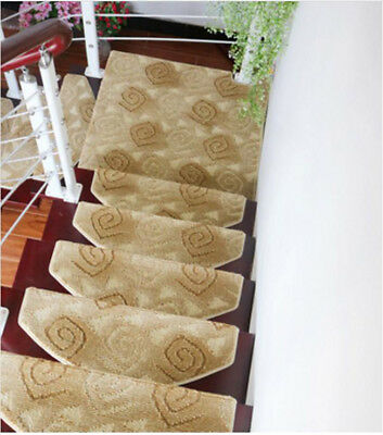 A46 Skid Resistance Household 5PCS Step Rug Stair Tread Mat Carpet 80X24CM Z