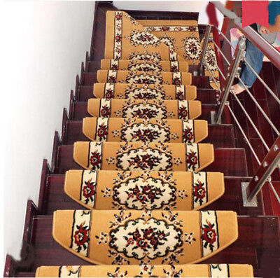 A29 5PCS Household Skid Resistance Step Rug Stair Tread Mat Carpet 80X24CM Z