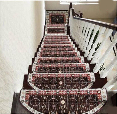 A8 5PCS Skid Resistance Stair Tread Mat Household Step Rug Carpet 24X75CM Z