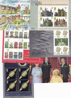 Gb 1978-2009 Various Miniature Mini Sheets Multiple Listing Ms1058-Ms2941