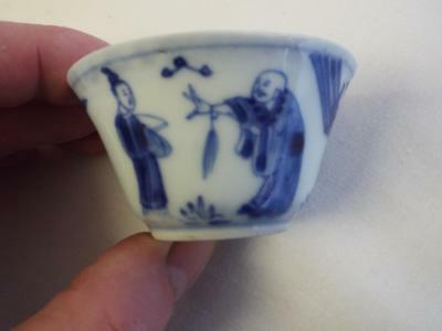 Lovely antique handpainted Chinese porcelain tea bowl.