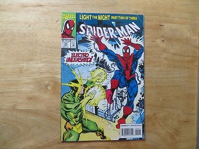 1993 VINTAGE MARVEL SPIDER-MAN # 39 vs ELECTRO SIGNED JM DEMATTEIS, WITH POA