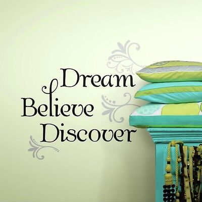 RoomMates Dream, Believe, Discover Peel & Stick Wall Decal