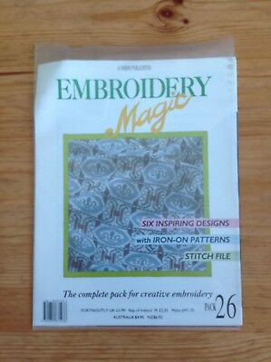 Embroidery Magic Issue 26 Iron-on Patterns Stitch File 6 Designs VGC