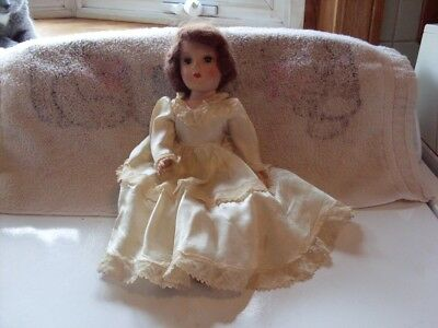 "Beautiful 13"" composition doll, 1950's, all original clothes, open and close eye"