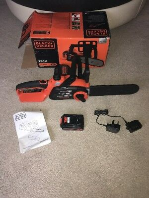 Black & Decker 18V Lithium-ion Cordless Chainsaw 25cm Used Once Cost £165 Oregon