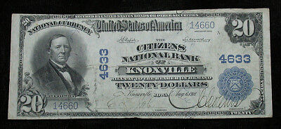 1902 Citizens National Bank of Knoxville Iowa National Currency $20 Note (rb1731