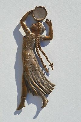 Gorgeous Antique Bronze Dancing Gypsy Nymph Figural Paperweight