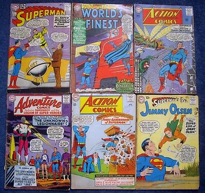 Early Silver Age Comic Book Collection X 6 <> Superman  <> L@@k!!!