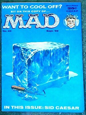 Mad Magazine #49 Sep 1959 VERY GOOD+! 4.5 .99 Start! A SOLID NICE-LOOKING Copy!