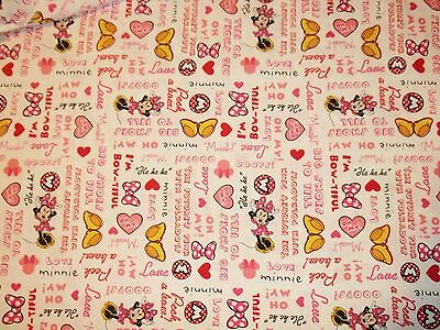 New Hand Made Minnie Mouse Hearts & Bow's Fitted Crib/Toddler Sheet