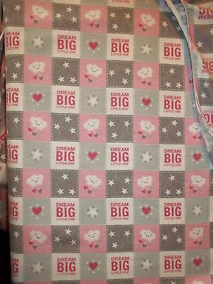 New Hand Made Dream Big Little One Flannel Fitted Crib/Toddler Sheet