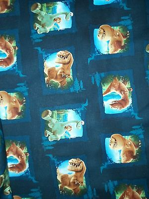 Hand Made Good Dinosaur in Squares Cotton Fitted CribToddler Sheet