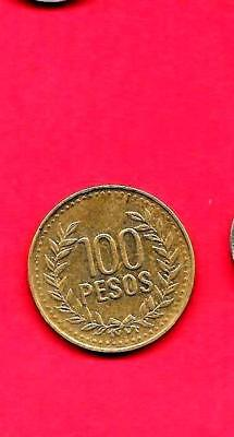 Colombia Km285.2 2010 Xf-Super Fine-Nice Modern Circulated Modern 100 Peso Coin