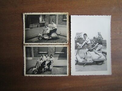 Lot 15 Photos Anciennes Scooter Annees 50