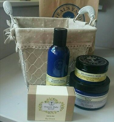 Neal's Yard Remedies Organic Mother & Baby Gift Basket Lotion Soap Balm Barrier