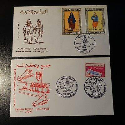 ALGERIA N°606/607 + N°610 ON LETTER COVER 1st DAY FDC 1975