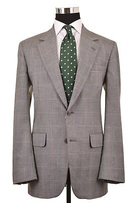 Brooks Brothers Made in USA Gray Glen Plaid Wool Sport Coat Jacket Blazer 40