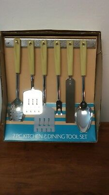 Vintage EKCO Kitchen DINING Utensil Set NMIB NOS Unused MID CENTURY Display
