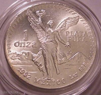 1982 MEXICAN LIBERTAD *INAUGURAL YEAR* COIN 1 oz SILVER ANGEL *UNC*