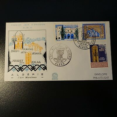 ALGERIA N°441/443 ON LETTER COVER 1st DAY FDC 1967