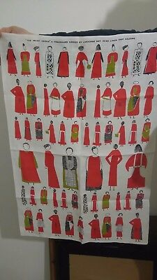 Lucienne Day Too Many Cooks tea towel Original