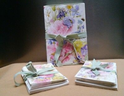 Hallmark Marjolein Bastin Retired Set Of 20 Note Cards & Thank You Notes Box~New