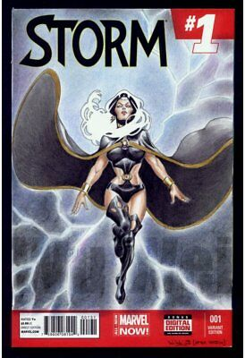 Storm X-Men Ororo Marvel Comics blank sketch cover variant original art Wu Wei