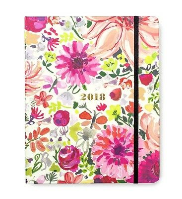 "New 2018 Kate Spade 17-Month Large Agenda 7 1/2"" X 9 1/4"" Dahlia - Free Shipping"