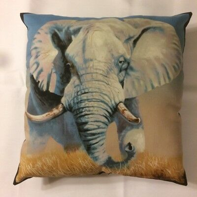 Beautiful New 15X15 Elephant Safari Animal Wildlife Theme Complete Pillow
