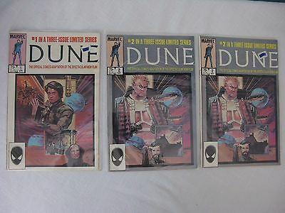 DUNE #1 2(2) (Full Run, Official Film Adapatation) Nice Shape Marvel Comics 1985