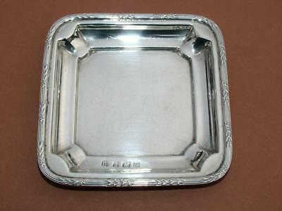 SOLID STERLING SILVER COIN / CALLING CARD TRAY HALLMARKED 1920 BY S.W SMITH 42g